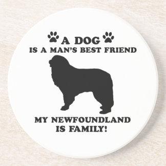 Mi familia de Terranova, su perro apenas que un Posavasos Personalizados
