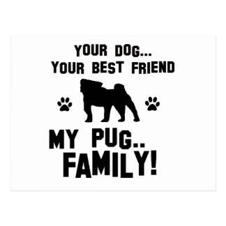 Mi familia del barro amasado, su perro apenas un tarjeta postal