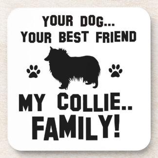 Mi familia del collie, su perro apenas un mejor posavasos de bebida