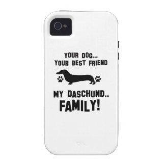 Mi familia del daschund, su perro apenas un mejor Case-Mate iPhone 4 carcasas