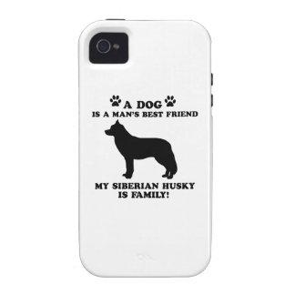 Mi familia del husky siberiano, su perro apenas un vibe iPhone 4 funda