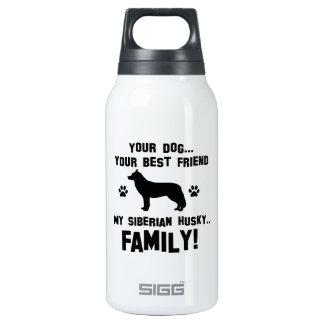 Mi familia del husky siberiano, su perro apenas un