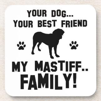Mi familia del mastín, su perro apenas un mejor posavaso