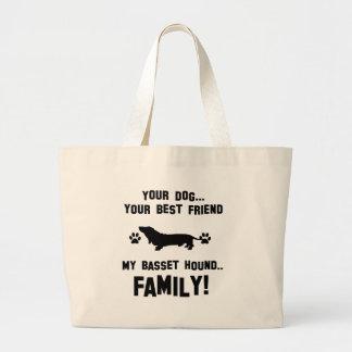 Mi familia del perro de afloramiento, su perro bolsa tela grande