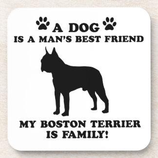 Mi familia del terrier de Boston, su perro apenas Posavasos De Bebidas
