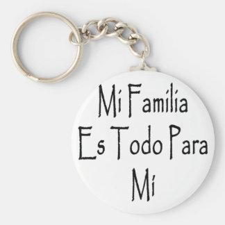 MI Familia Es Todo Para MI Llavero Personalizado