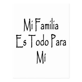 MI Familia Es Todo Para MI Tarjeta Postal