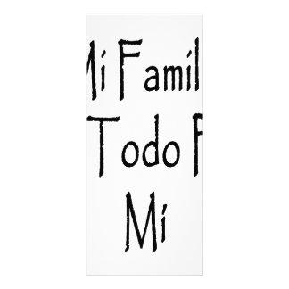 MI Familia Es Todo Para MI Plantilla De Lona