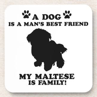 Mi familia maltesa, su perro apenas un mejor amigo posavaso