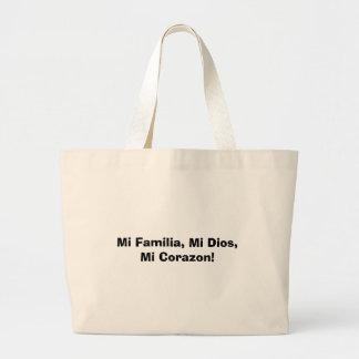 ¡MI Familia, MI Dios, MI Corazon! Bolsas Lienzo
