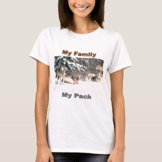 Mi familia, mi línea del paquete playera