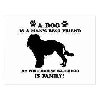 Mi familia portuguesa del waterdog, su perro postal