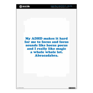 Mi fórmula de prestidigitador de ADHD iPad 3 Skins