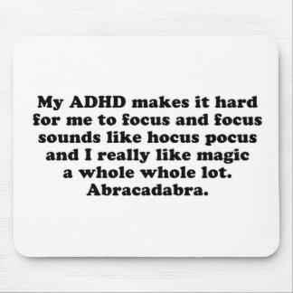 Mi fórmula de prestidigitador del foco de ADHD Tapetes De Ratón