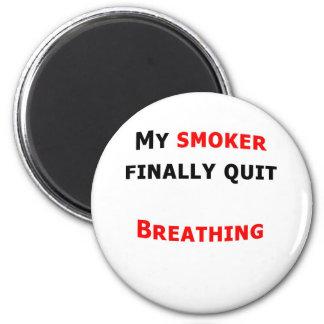 Mi fumador finalmente abandonado imán redondo 5 cm
