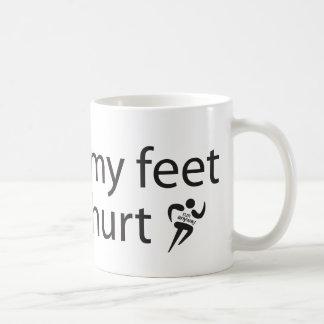 Mi funcionamiento dañado los pies ahueca de todos taza básica blanca