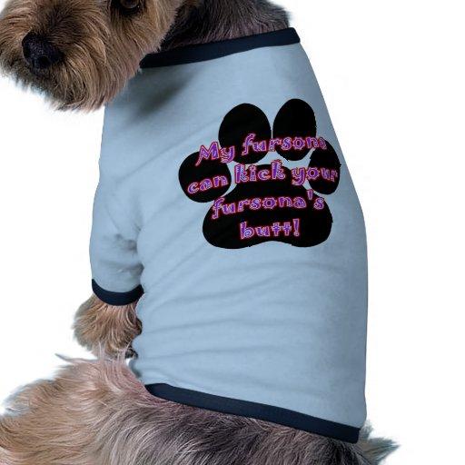 Mi Fursona puede golpear el extremo de su Fursona  Camiseta Con Mangas Para Perro