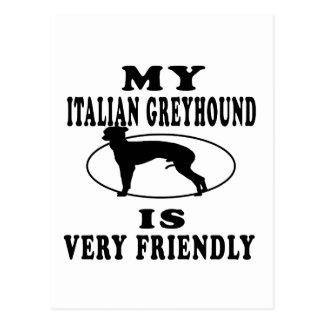 Mi galgo italiano es muy amistoso postales