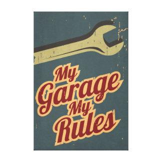 Mi garaje mis reglas impresion de lienzo