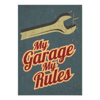 Mi garaje mis reglas impresiones fotográficas