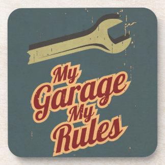 Mi garaje mis reglas posavasos