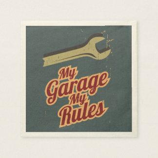 Mi garaje mis reglas servilleta desechable