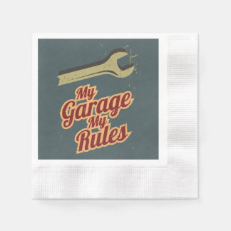 Mi garaje mis reglas servilletas desechables