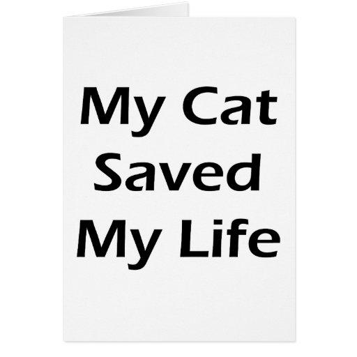 Mi gato ahorró mi vida tarjetas