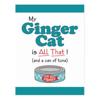 ¡Mi gato del jengibre es todo el eso! Gatito Tarjeta Postal