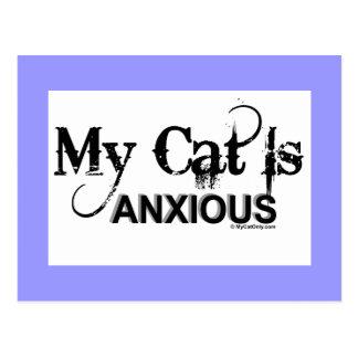 Mi gato es ansioso postal