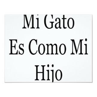 "Mi Gato Es Como Mi Hijo 4.25"" X 5.5"" Invitation Card"