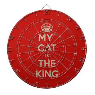 Mi gato es el rey - fondo rojo