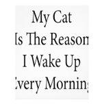 Mi gato es la razón que despierto cada mañana membretes personalizados