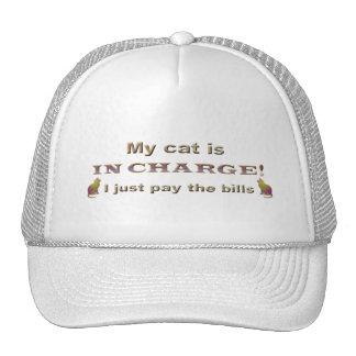 mi gato es responsable, yo apenas paga las cuentas gorra