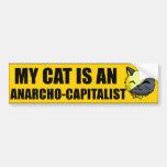 Mi gato es un Anarcho-Capitalista Pegatina Para Coche