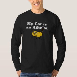 Mi gato es un ateo camisas
