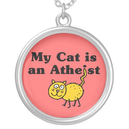 Mi gato es un ateo colgante redondo