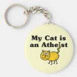 Mi gato es un ateo llaveros