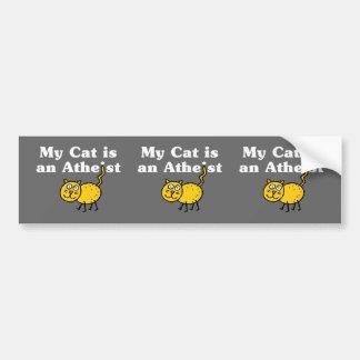 Mi gato es un ateo pegatina para auto