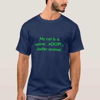 Mi gato es un rescate… ADOPTA un animal del Playera