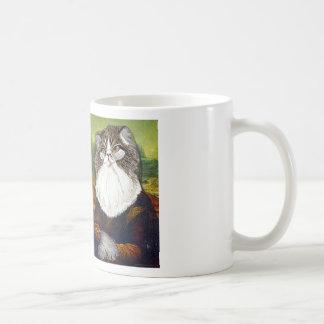 Mi gato Kevin como la Mona Lisa - Taza Básica Blanca