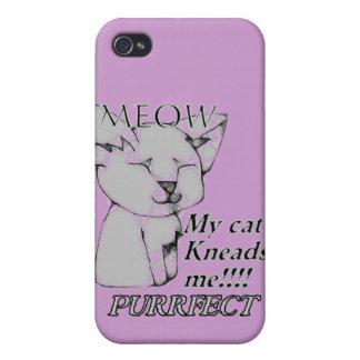Mi gato me amasa caso del iphone de Purrfect iPhone 4 Fundas