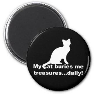 Mi gato me entierra imán divertido diario de los t