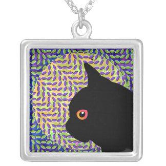 Mi gato negro colgante cuadrado