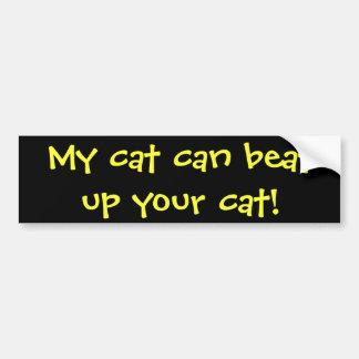 ¡Mi gato puede batir para arriba su gato! Pegatina Para Auto