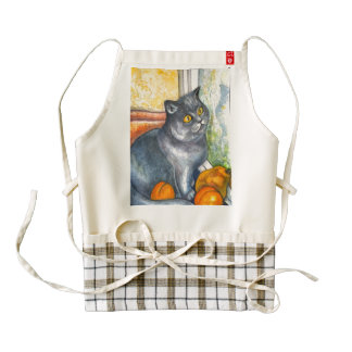 Mi gato querido #1 - delantal delantal zazzle HEART