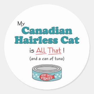 ¡Mi gato sin pelo canadiense es todo el eso Gatit Pegatina