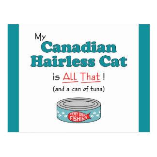 ¡Mi gato sin pelo canadiense es todo el eso Gatit Postal