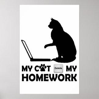 Mi gato suprimió mi preparación poster