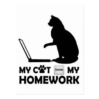 Mi gato suprimió mi preparación postal